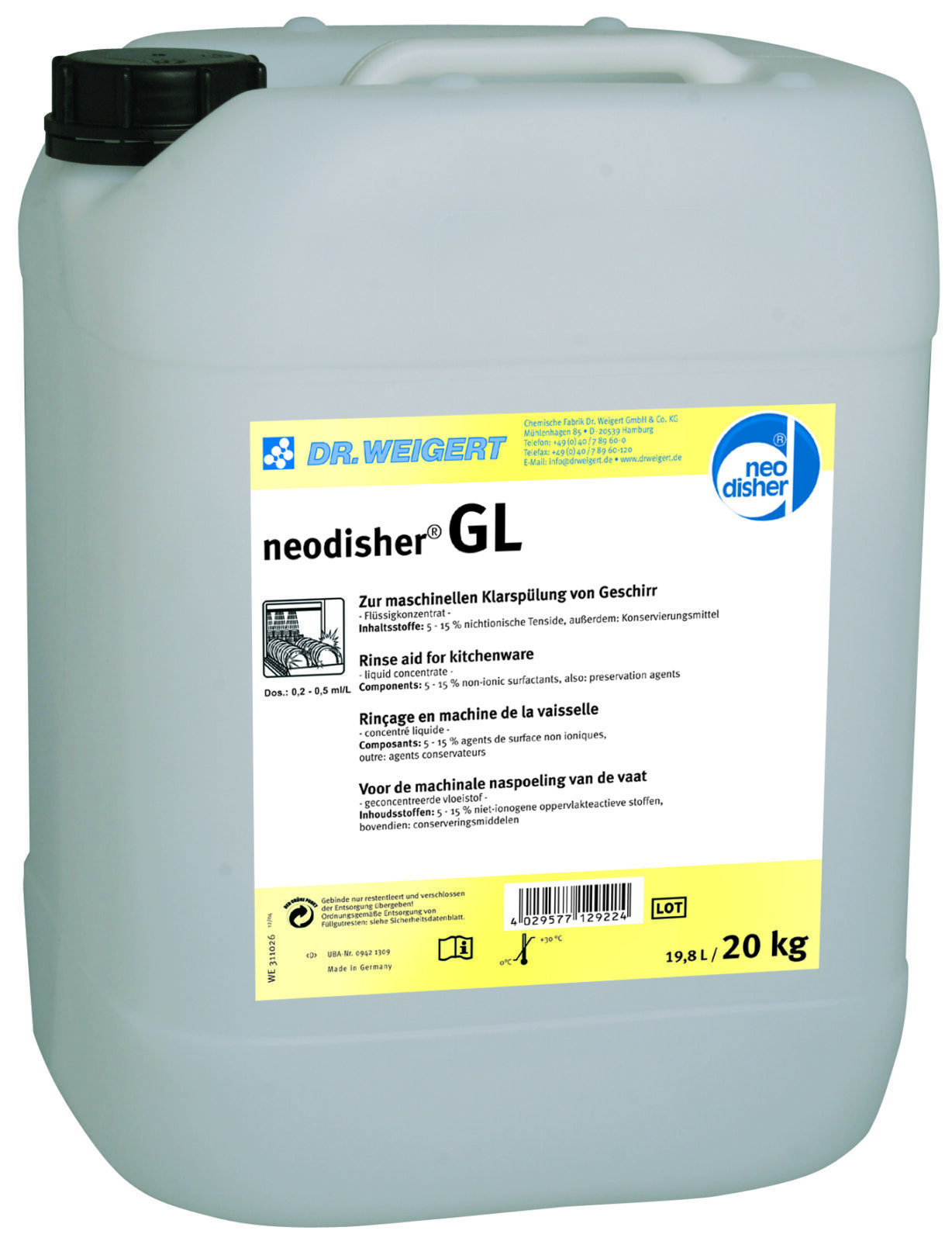 Моющее средство neodisher GL (10 l) Dr.Weigert